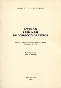 7-2-1_I Seminari de Correcció 1999