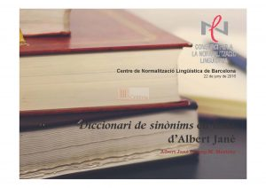 9-3-3_Diccionari de sinònims_2016 CPNL_Presentació_pàg 1