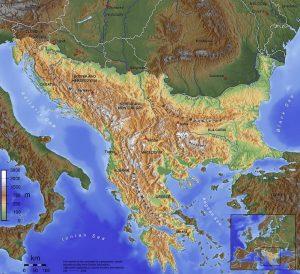 Mapa dels Balcans